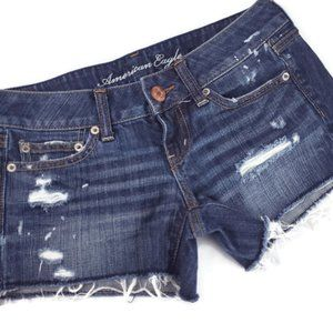 American Eagle Jean Shorts Distressed Low Rise